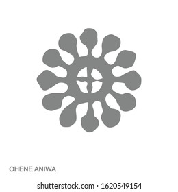 Vector monochrome icon with Adinkra symbol Ohene Aniwa