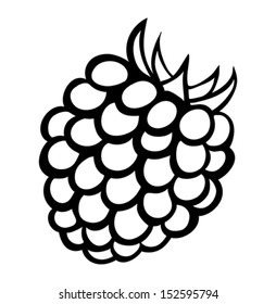 Vector monochrome illustration of raspberry logo.  Many similarities to the author's profile