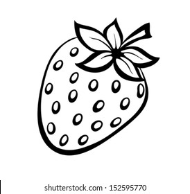 Outline Strawberry Images, Stock Photos & Vectors ...