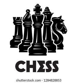 Vector monochrome pattern on chess theme with chess and checkmate.