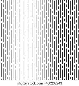 Vector monochrome seamless pattern, black irregular rounded lines on white background. Abstract endless texture for banner, website, print, decoration, cover, wrapping. Modern stylish repeat design