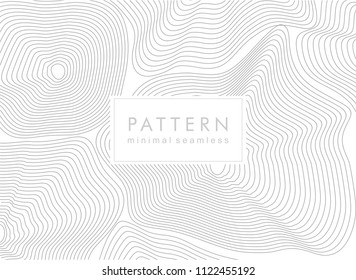 Vector monochrome seamless pattern, curved lines, black & white background. Abstract dynamical rippled surface, illusion of movement, curvature.