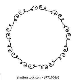 Vector monogram frame swirls