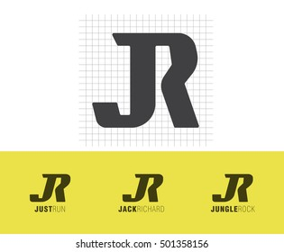 Vector monogram JR, initials JR for branding, logotypes, invitation
