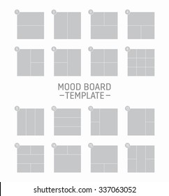 Vector mood board template