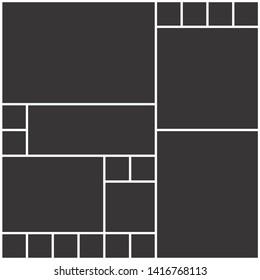 Vector Mood Board,Branding Presentation. Collage Frames