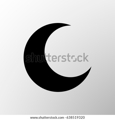 Vector Moon Icon Shadow Islam Symbol Stock Vector Royalty Free