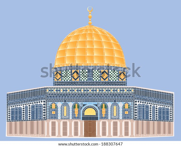 Vector Mosaic Alaqsa Mosque Stock Vector Royalty Free 188307647