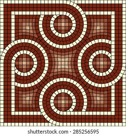 vector mosaic with classic antic ornament