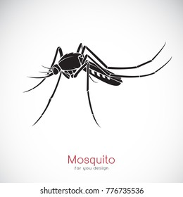Vector of a Mosquito design on white background. Insect. Animal.