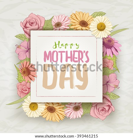vector mothers day card design template stock vector royalty free