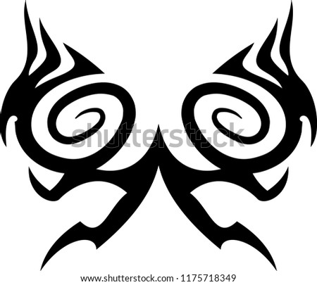 Vector Motif Tattoo Designs Carvings Other Stock Vector Royalty