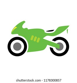 vector Motorcycle illustration - vector motorbike symbol, race bike