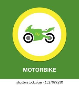 vector Motorcycle illustration - vector motorbike symbol, race bike
