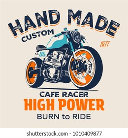 vector motorcycle illustration print