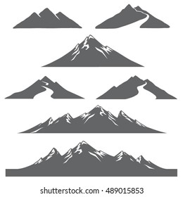 Vector mountain graphic illustrations