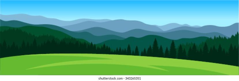 vector mountains landscape