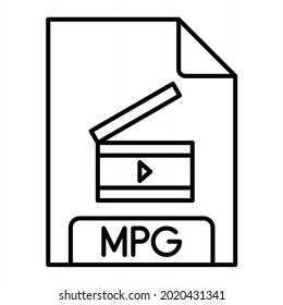 Vector MPG Outline Icon Design