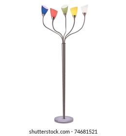 vector multicolor floor lamp