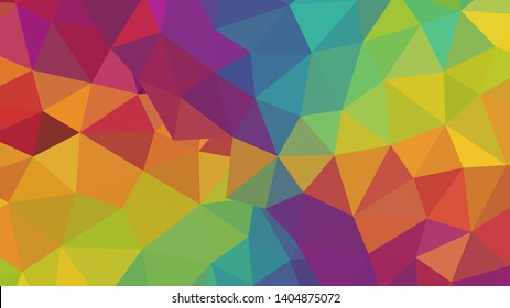 Vector, multicolor geometric background. Triangles, triangulation. Geometric mosaic, colored triangles, application in origami style. Abstract background for web.