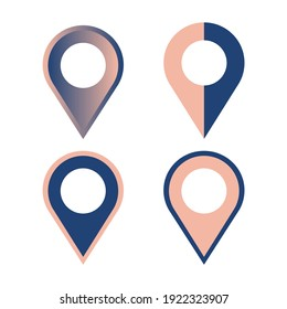 Vector multicolored map pin icon. Easy to edit and scalable to any size.