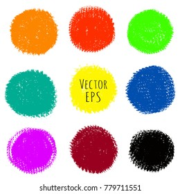 Vector multicolored stains