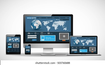 Vector multiple devices with website