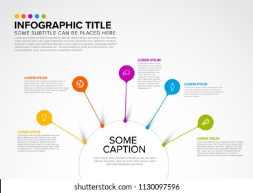Vector multipurpose Infographic template made from circle and droplet pins