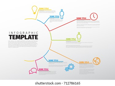 Vector multipurpose Infographic template made from lines and icons