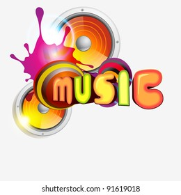 vector music colorful illustration design