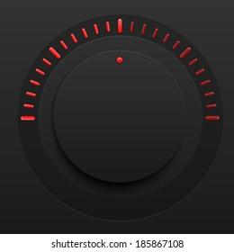 Vector music control volume knob with plastic
