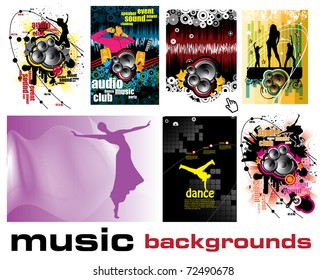 Vector music event backgrounds.