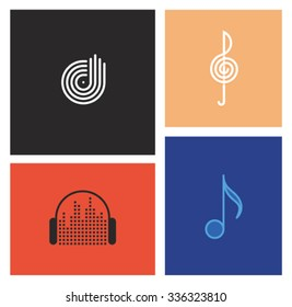 Vector music icon set