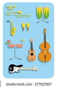 vector music instruments salsa latin