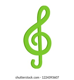 vector music keynote. Flat illustration of music keynote isolated on white background. music sign symbol. musical icon
