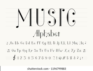 Music Fonts Images, Stock Photos & Vectors | Shutterstock