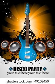 Vector music poster; clip-art