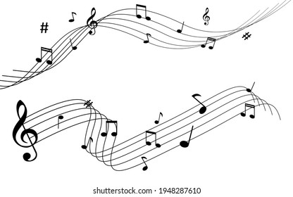 vector musical notation note melody illustration