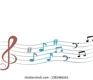 vector musical notes vector background - Vector