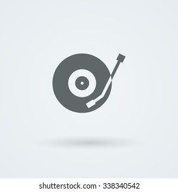 Vector musical plate icon. Logo. Pictogram. Button.