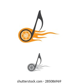 Vector musical wheel . Template logo.