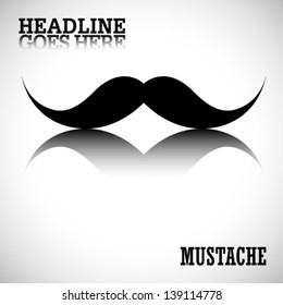 vector mustache with background
