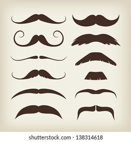 Vector Mustaches Set