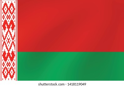 Vector national flag of Belarus - Illustration for sports competition, traditional or state events.
