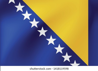 Vector national flag of Bosnia and Herzegovina - Illustration for sports competition, traditional or state events.