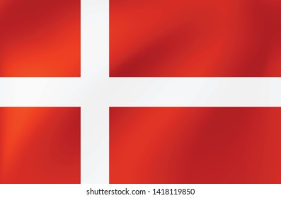 Vector national flag of Denmark - Illustration for sports competition, traditional or state events.