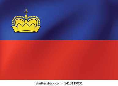 Vector national flag of Lichtenstein - Illustration for sports competition, traditional or state events.