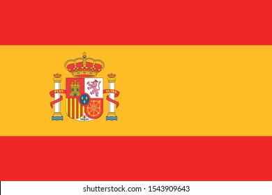 Vector national Spain flag, Spain flag illustration