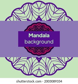 Vector nature decor for your design with abstract mandala ornament. Vector round mandala in childish style. Ornamental doodle background.