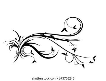 Vector nature decoration